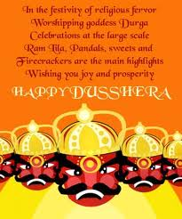 Happy Dussehra Graphic for Facebook Sharing