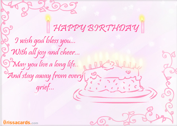 I Wish God Bless you with all joy and Cheer Happy Birthday