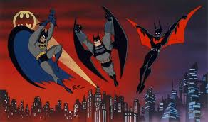 Cartoon Batman Flying Picture