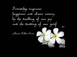 Friendship improves happiness and abates misery