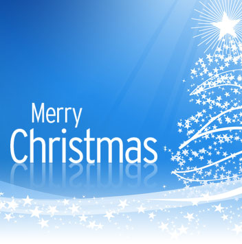 Merry Christmas Blue Graphic for Friendster