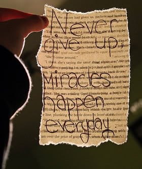 Never Give Up Miracles Happen Everyday