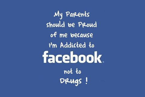 I am Addicted tot Facebook not to Drugs !