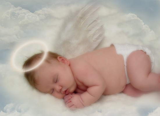 Cute Angel Baby Sleeping