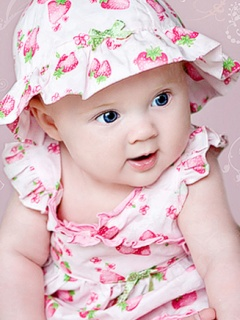 Small Cute Baby in Beautiful Dress