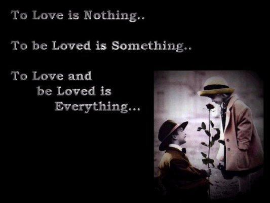 To Love is Nothing…