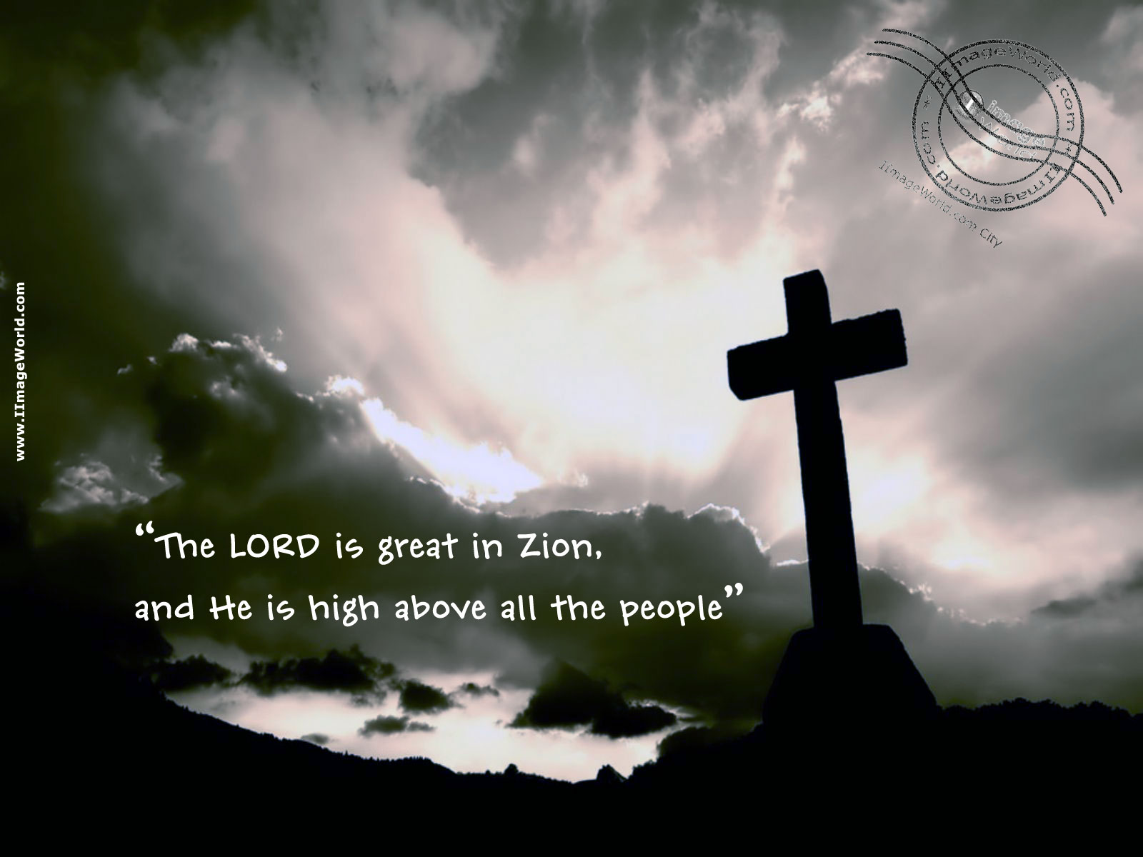 The Lord is Great in Zion Christianity Picture