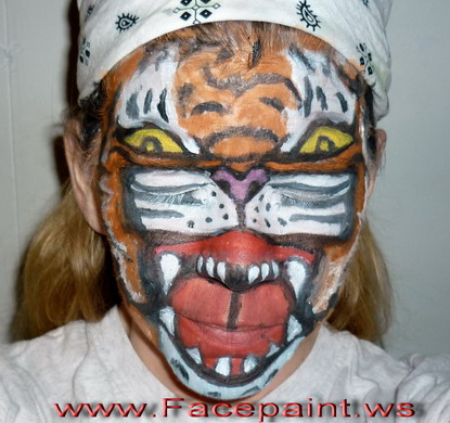 Funny Tiger Face Picture for Fb Share