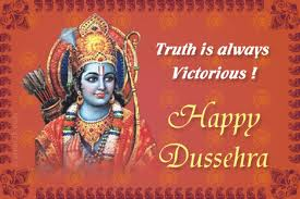 Truth is Always Victorius ! Happy Dussehra