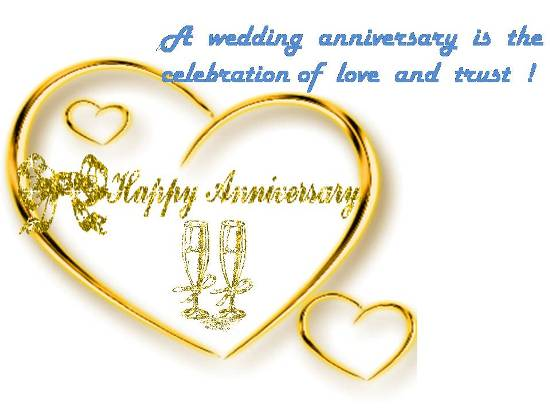 A Wedding Anniversary is the Celebration of Love and Trust !