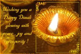 Wishing you a Happy Diwali Glowing with Peace Joy and Prosperity