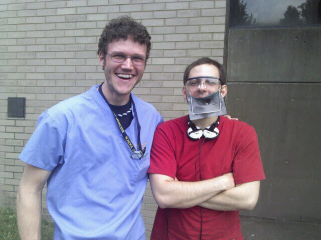A fire alarm went off while my friend was getting a root canal… Funny Men picture