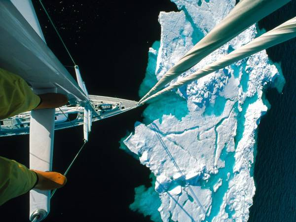 Approaching an iceberg from the mast of a ship… holy shit Funny Things Picture