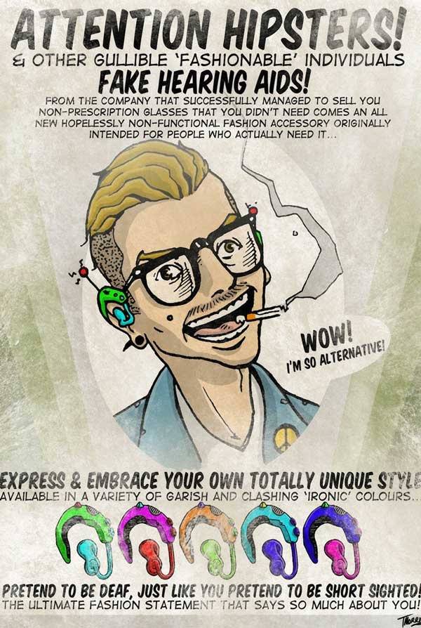 Attention hipsters! Fake hearing aids! Funny Things Picture