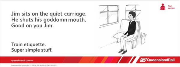 Australian train etiquette Funny Chat Image