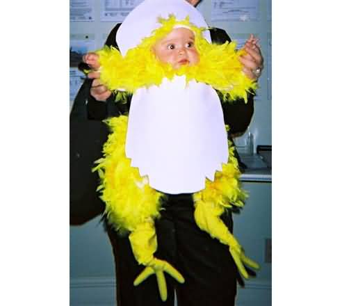 Baby In Funny Costume On Halloween Funny Baby Image