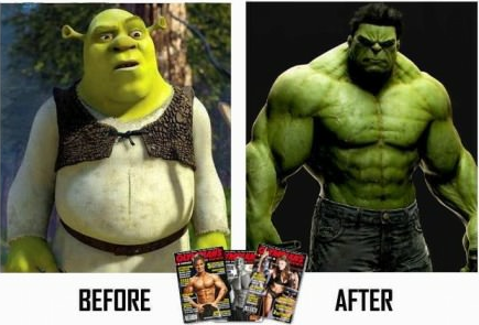 Before and After. Funny Picture