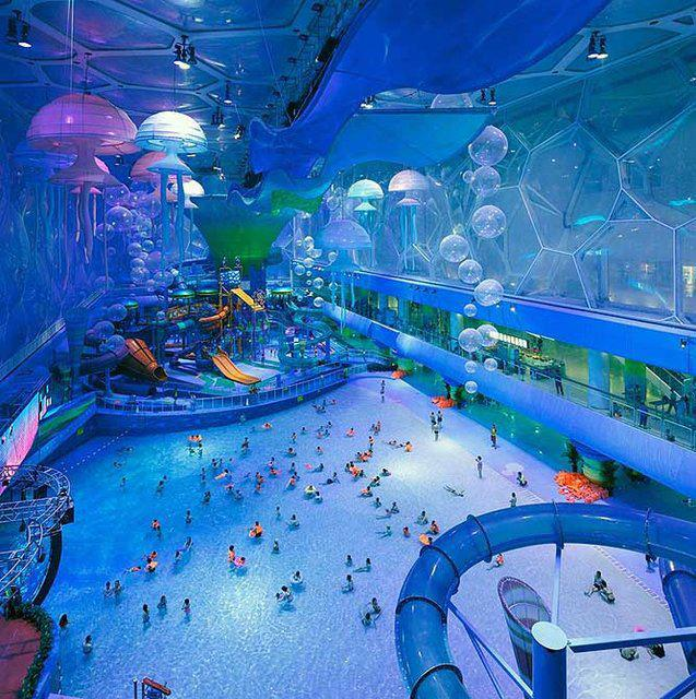 Beijing's Water Cube turned water park. Funny Poeple Picture