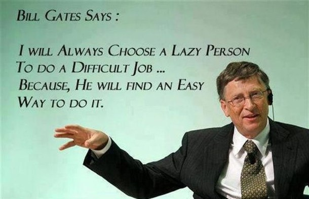 Bill gates being bill gates Funny Quote Picture