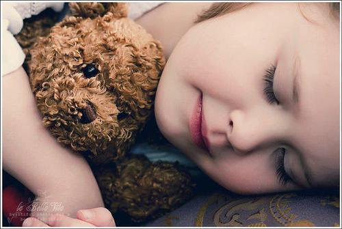 Child Baby with Cute Teddy Bear