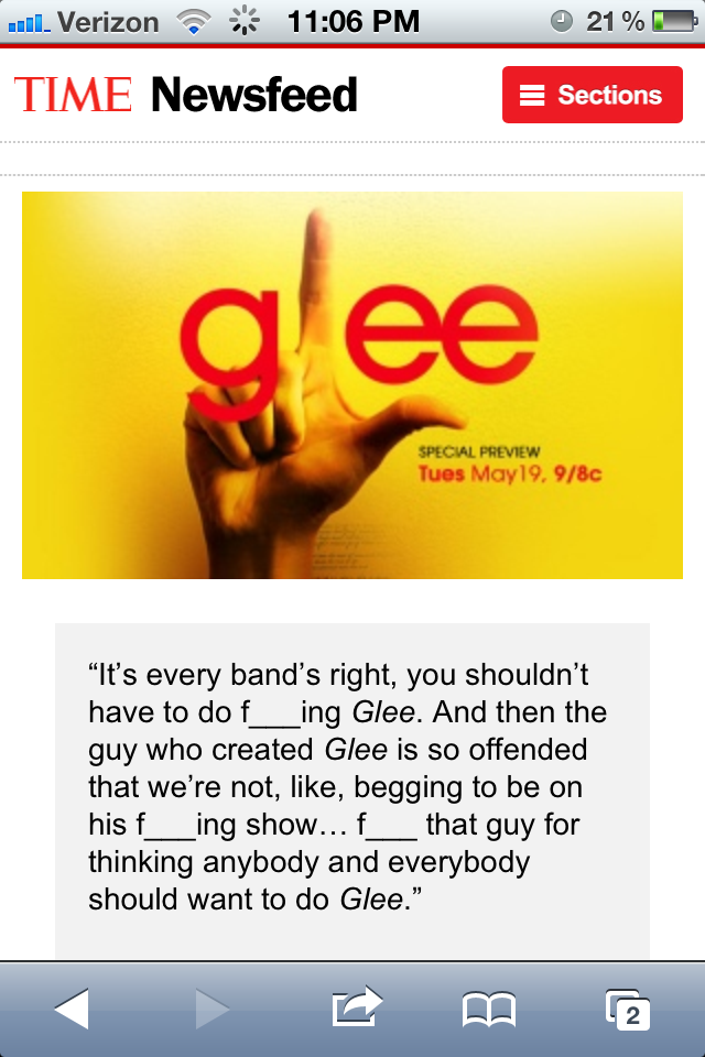 David Grohl's opinions about Glee. Funny Things Picture