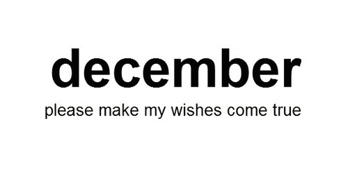 December Please Make my Wishes Come True