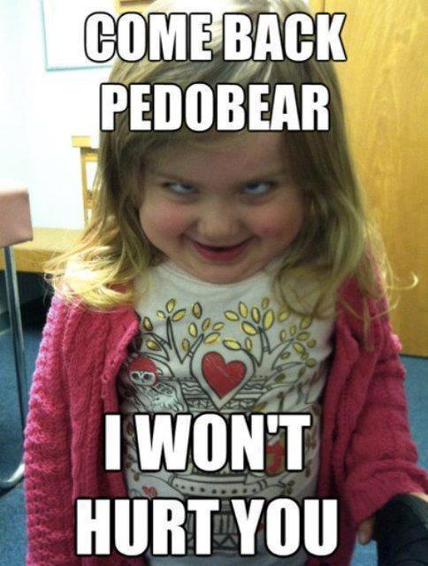 Dont hug me….I am scared Funny Baby Image