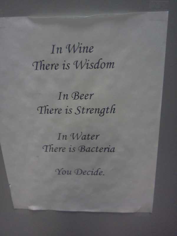 Found in local liquor store Funny Quote Image