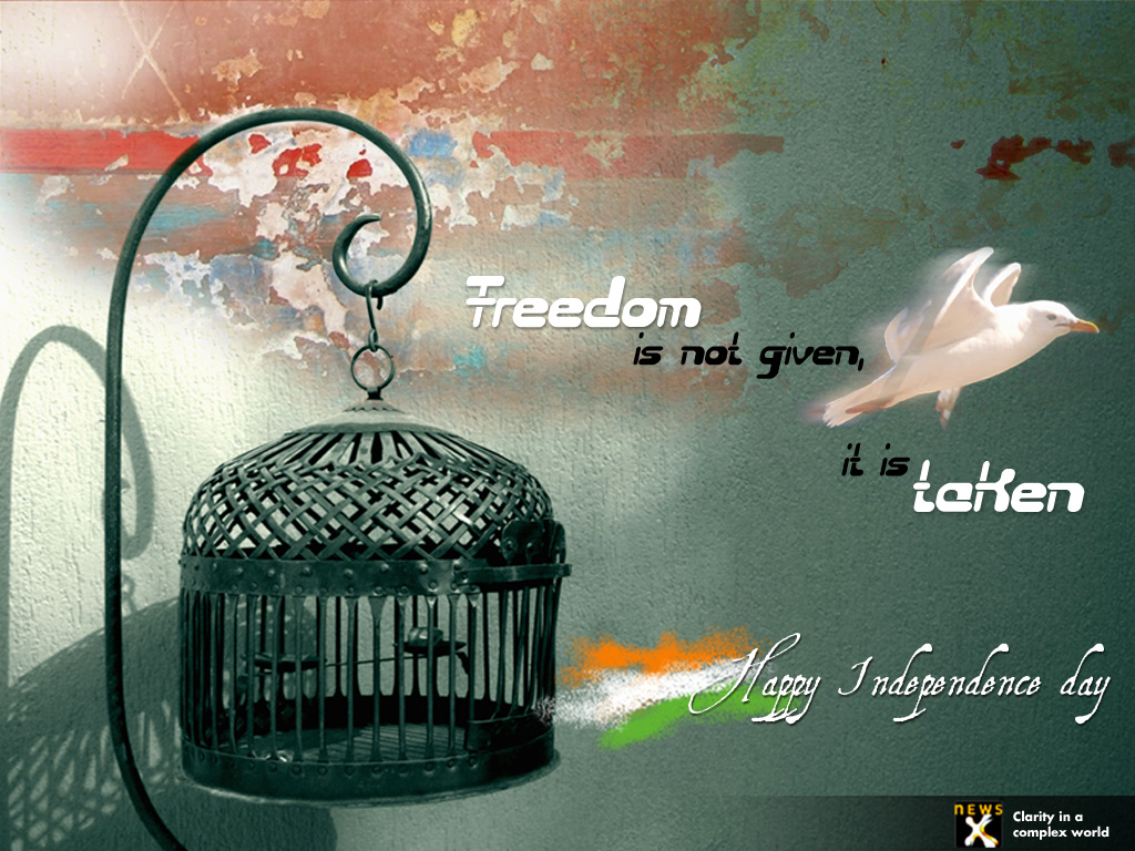 Freedom is Not Given it is Taken Happy Independence Day