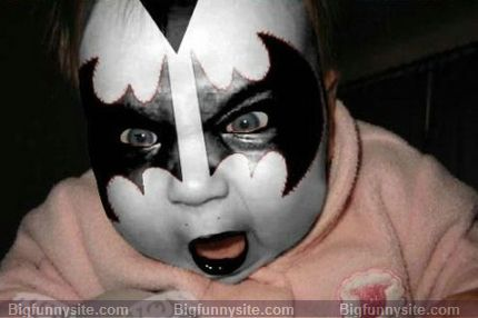Funny Angry Baby Batman Picture