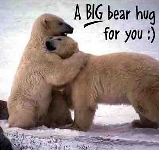 A Big Bear Hug for You Funny Bear Image