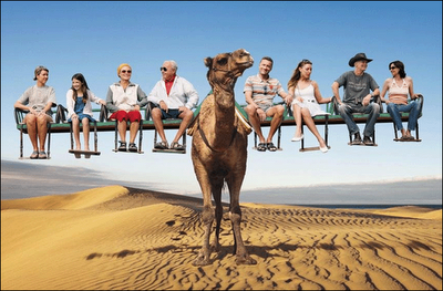 Funny Camel Ride Picture