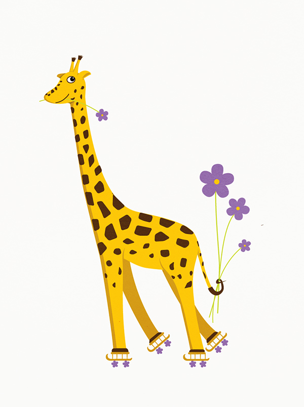 Funny Cartoon Giraffe Image