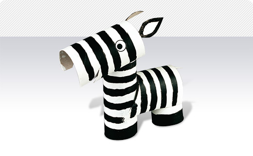 Funny Crafting Zebra Picture