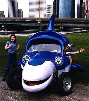 Funny Dolphin Shaped Car Image for Fb Share