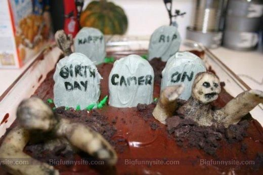 Funny Graveyard Cake Image for Friendster