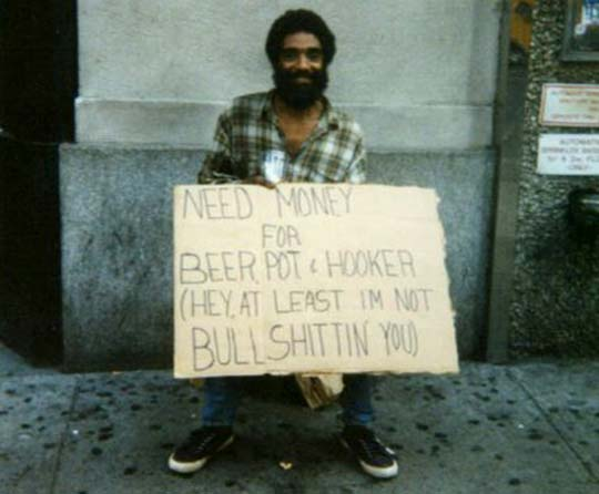 Funny Homeless Guy Signs Funny Sign Image