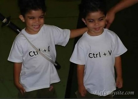 Funny Kids Copy And Paste Twins Funny Men Picture