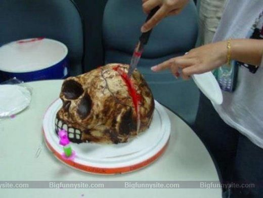 Funny & Scary Skull Cake image for Orkut
