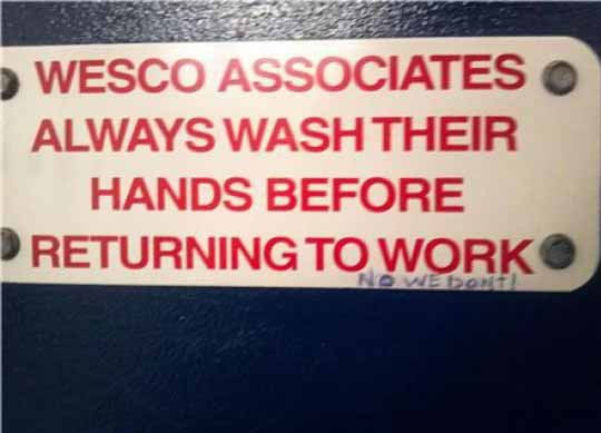 Funny Signs About Wash Hands Picture