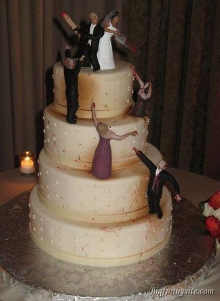 Funny Zombie Wedding Cake Image for Friendster