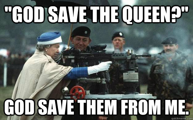 God Save The Queen Funny Women Image