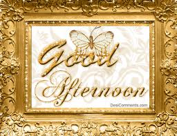 Good Afternoon Butterfly Graphic for Facebook Share