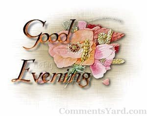 Good Evening Flowers Graphic for Fb Share