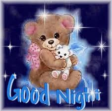 Good Night Teddy Bear Graphic for Fb Share