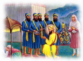 Guru Gobind singh ji with Punj pyare