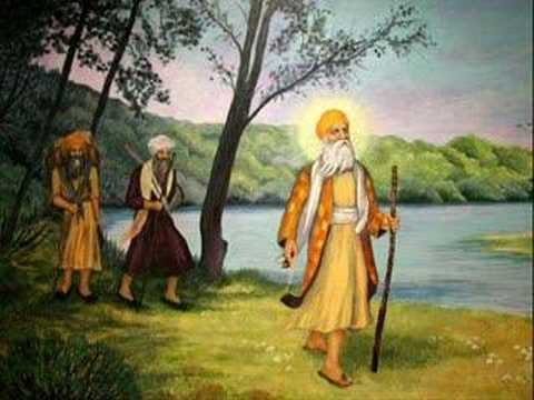 Guru Nanak dev ji on there Way