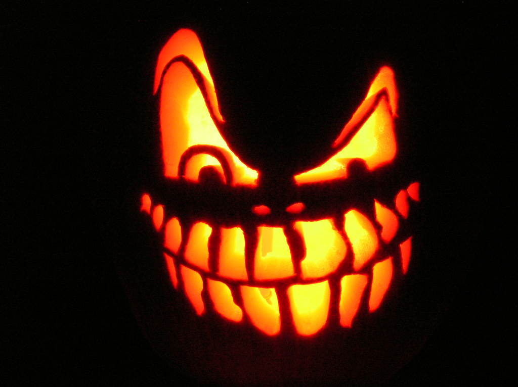 Happy Halloween Teeth Graphic for Orkut