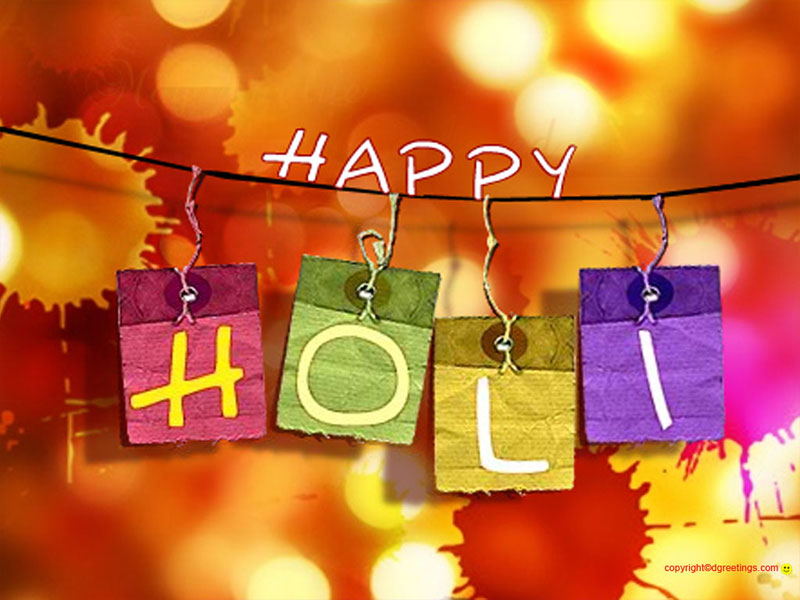 Happy Holi to you and Your Family