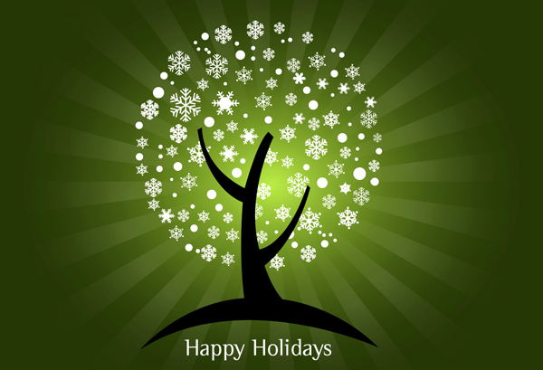 Happy Holidays Green Graphic for Orkut